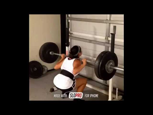 Girl Squats Too Much, Hair Gets Caught And She Gets Yanked