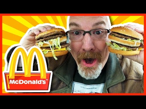 McDonald's Double Big Mac X2 Review & Challenge 1590 CALORIES