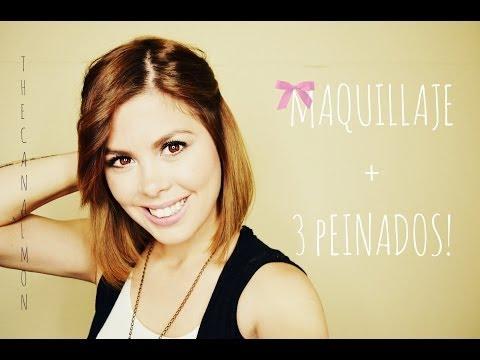 Maquillaje + 3 Peinados Fáciles/Cabello Corto/Mon♥