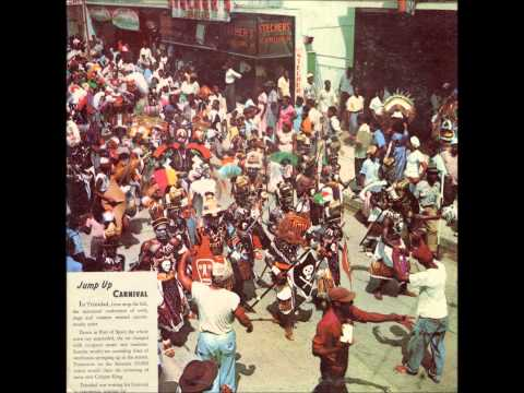 Steelband Parade on Frederick Street, Port of Spain , Trinidad at Carnival 1956