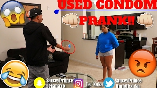 EPIC USED CONDOM PRANK ON HUSBAND!! (HICKEY INVOLVED)