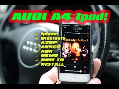 AUDI A4 BLUETOOTH IPOD AUX. Streaming A2DP AVRCP GROM AUDIO MP3 VAG AUX USB STREAMING