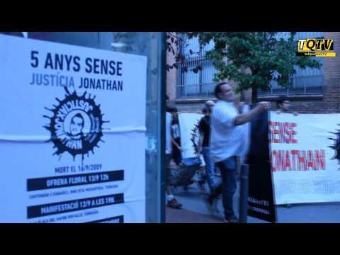 Cinc anys després Terrassa continua reclamant #JustíciaXJonathan