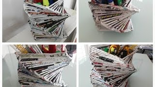 DIY Room or Home Decoration / Recycled Old Magazine
