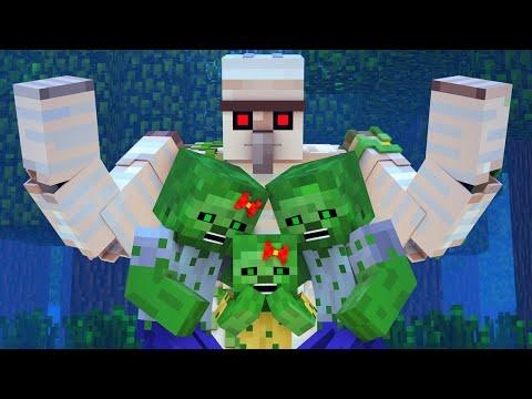 Zombie vs Villager Life 9 - Alien Being Minecraft Animation