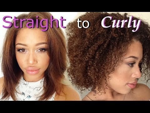 Straight to Curly with Design Essentials