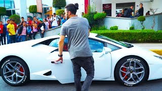 Picking up MY SISTER from her school in a LAMBO!