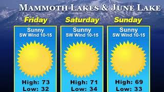Eastern Sierra News 9/20/18 Weather & Sports