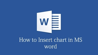 How to insert chart in MS word without leaving MS word