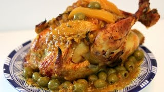 Chicken with Olives and Preserved Lemons Recipe - CookingWithAlia - Episode 366