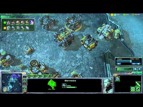 StarCraft 2 Strategy - [T] Transition From Hellion Banshee Into Marine Tank - Step-by-Step