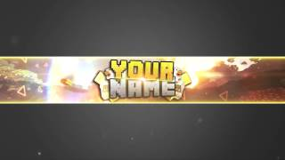 ★EPIC MINECRAFT BANNER FOR PHOTOSHOP - CS6 | CS5 | CC★