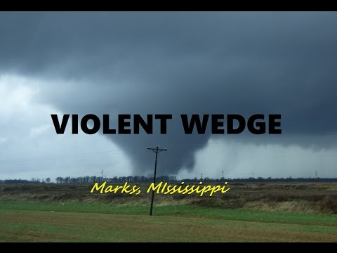 VIOLENT Wedge Tornado Marks, Mississippi EF-3 12/23/15