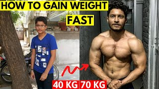 SKINNY से MUSCULAR - 5 Steps to GAIN WEIGHT in a Month | How to Eat More food - WEIGHT GAIN DIET
