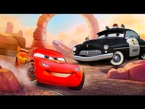 Видео для детей  Молния МАКВИН С Шерифом на хвосте. Cars Toon McQueen. Мультики про машинки