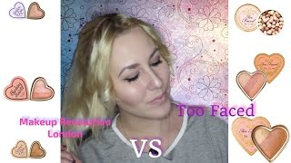 Makeup Revolution vs Too Faced|Бюджетный Аналог Too Faced|Sweetysweet Mari