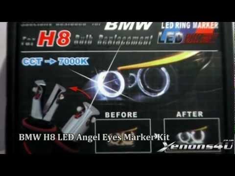 BMW Angel Eyes Rings light Rdash H8 LED Upgrade Marker Bulbs Kit