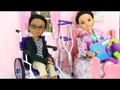 How To Make A Doll Wheelchair 2 Youtube