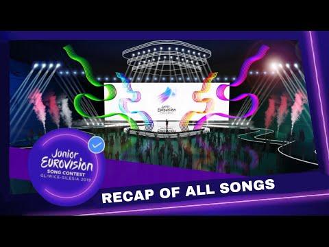 Recap of all songs of Junior Eurovision 2019