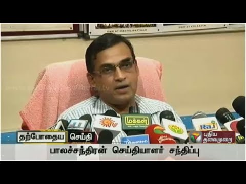Balachandran,Director,Regional Meteorological Centre,addressing reporters with the latest on weather