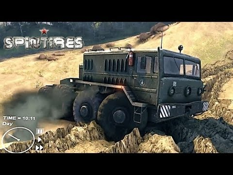 Spin Tires 2013 Tech Demo ( Jun 4 ) Update - Map Extended - Driving the MAZ 535 Truck Part 3