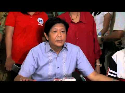 Sen. Bongbong Marcos - Ambush Interview at Lingayen, Pangasinan