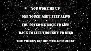 Celine Dion - Loved Me Back to Life Lyrics