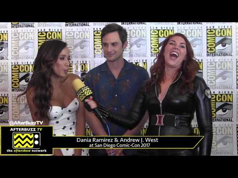 Dania Ramirez & Andrew J. West (Once Upon a Time) at San Diego Comic-Con 2017