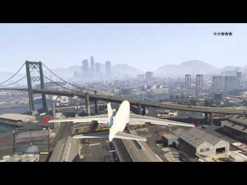 GTA 5 - Jumbo Jet Gameplay + crashes
