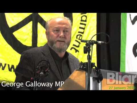 GEORGE GALLOWAY LIAR WAR CRIMINAL TONY BLAIR KNEW IRAQ WAR WAS ILLEGAL