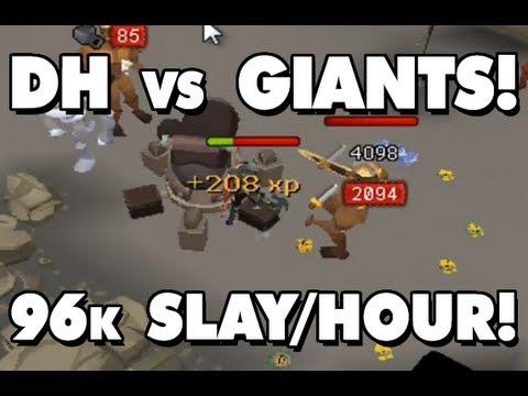 Runescape EoC Fire Giants! Amazing DH Task?