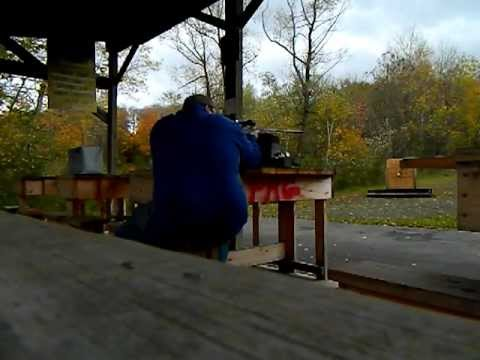 Savage axis .30-06 rifle at the range