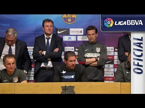 Press Conference Simeone after FC Barcelona (1-1) Atlético de Madrid - HD