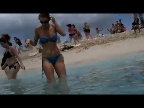 ШОК Beach in St Maarten! HOT!  АВИАЛАЙНЕР на пляже