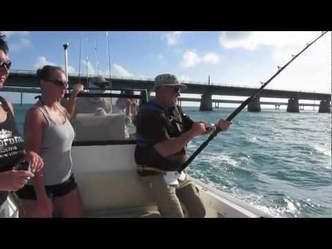 Monster Shark Attacks Fishing Boat Florida Keys