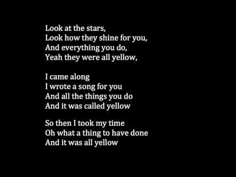 Coldplay - Yellow Meaning