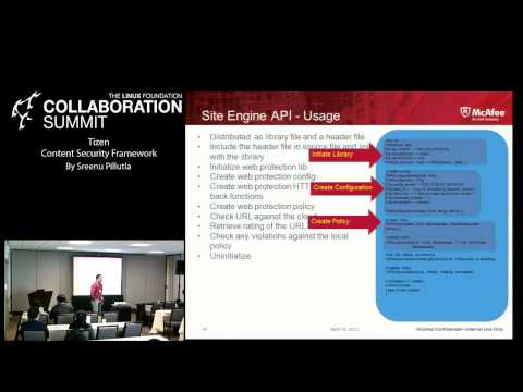 Collaboration Summit 2013 - TIZEN Content Security Framework