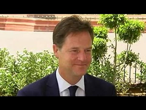 NDTV exclusive with British Deputy Prime Minister Nick Clegg