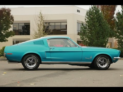 1968 Ford Mustang For Sale >> 1968 Ford Mustang Fastback Gulfstream Aqua - YouTube