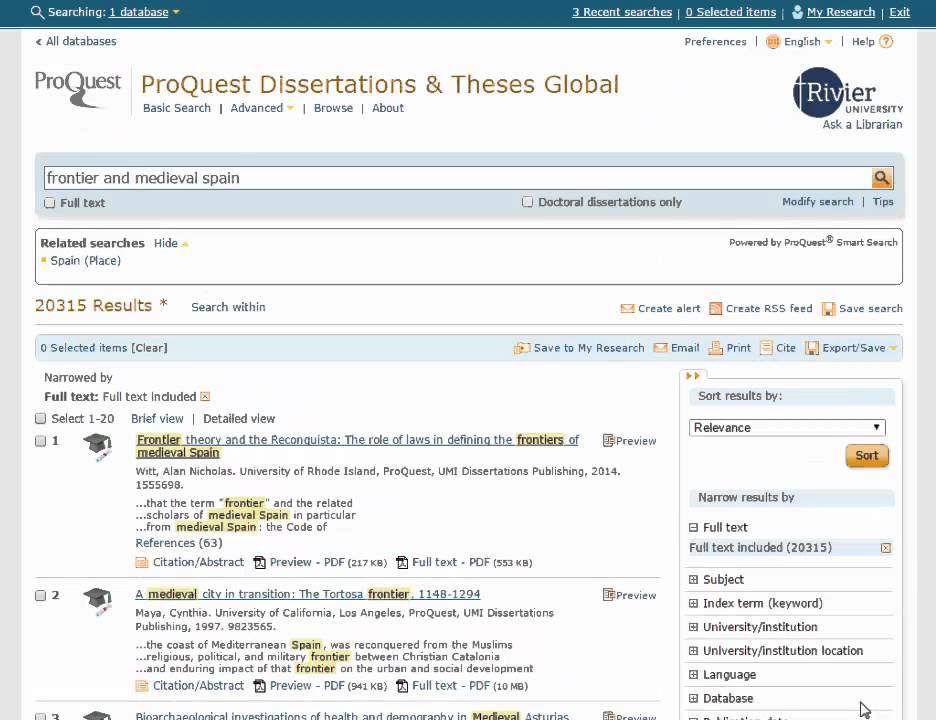 Thesis and dissertation database | Do my homework