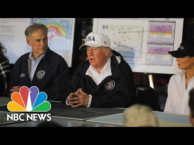 President Donald Trump Receives Hurricane Harvey Briefing In Corpus Christi, Texas | NBC News