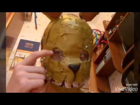 Как сделать маску из бумаги спрингтрапа