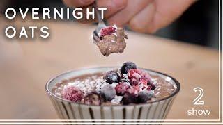 Vegan Protein Overnight Oats Coffee-Flavor - Vegan Fitness Recipe
