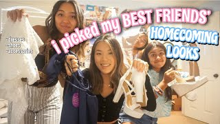 i picked my best friends homecoming looks *REVEAL*
