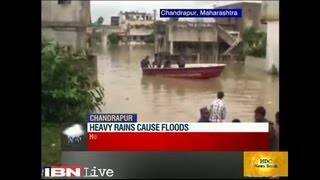 Floods In Chandrapur Maharashtra, India Claim 20 Lives