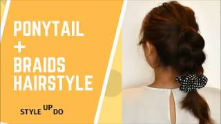 Tutorial: High ponytail + Braid Mix Hairstyle