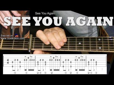 SEE YOU AGAIN (Furious 7): Fingerstyle Guitar Lesson + TAB by GuitarNick