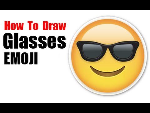 Cool Glasses Emoji How to Draw Emojis Cool