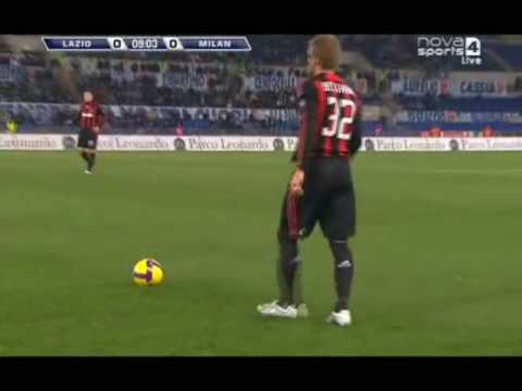 David Beckham AC Milan vs Lazio