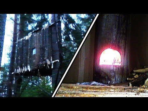 [DIY] Теплый домик на дереве с печкой своими руками